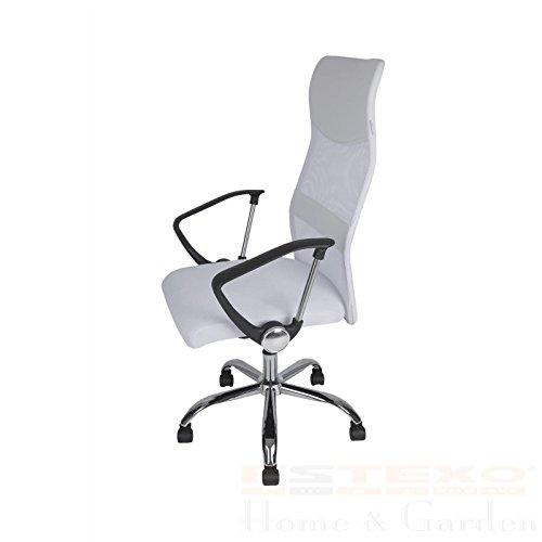 Bürostuhl MESH weiß - Drehstuhl Schreibtischstuhl Chefsessel Bürosessel Stuhl