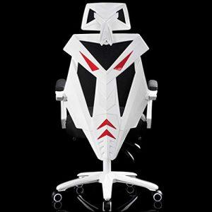 Jizhen Gaming Bürostuhl, Spiel Racing Style Ergonomischer Dreh Computer Stuhl mit Lordosenstütze und Rocker Kopfstütze und Sitzhöhenverstellung E-Sports Mesh Stuhl (schwarz/weiß)