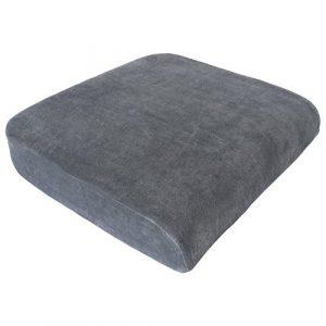 XL Sitzkissen von Formalind für Gartenmöbel, Sessel, Bürostühle // Viscoelastisches Sitzpolster gegen Verspannungen und Schmerzen