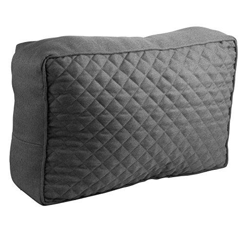 WOLTU Palettenkissen Seitenkissen Sofa Couch Kissen Outdoor Seitenlehne 60x40x20cm Bankauflage Anthrazit SKN006an