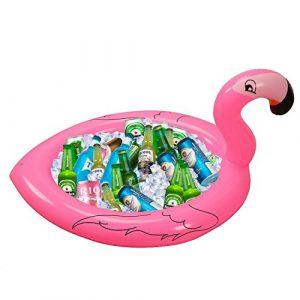Aufblasbare Getränkekühler Getränkehalter Großer Flamingo Schwimmender Servieren Bar Tablett Pool BBQ Sommer Strand Cocktail Bier Eis Getränkekühler Flaschehalter Garten Buffet Tisch Wasser Spielzeug