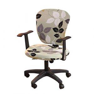 iShine Bürostuhl Bezug Stretch Stuhlhussen Abdeckung Stuhlbezug Abnehmbarer Schreibtischstuhl Federnden Stuhlbezug für Bürostuhl Drehstuhl Sessel Computer Stuhl Armlehnen Stuhl-1 Stück