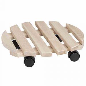 Siena Garden 945896 Holz-Rolluntersetzer, rund Buche, 6 und 2 Latten