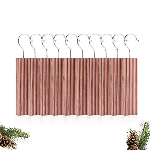 EKKONG 10 Stück Zedernholz Blöcke,Natürlicher Bio Mottenschutz aus Zedernholz / 100% Naturprodukt,Mottenschutz für Kleiderschrank, sofortige Mottenabwehr, chemiefreie Mottenfallen