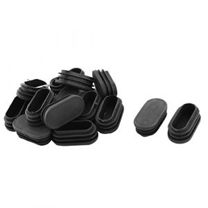 Sourcingmap® 15Stk Plastik ovale Bodenschutz Stuhl Pfostenkappe Einsatz Schwarz 48mm x 24mm DE