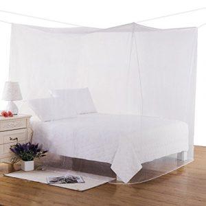 Moskitonetz, Mture Mückennetz Bett Moskitonetz für Doppelbette Baldachin Bett Insekten Malaria Schutz Indoor Outdoor Reise travel 220 x200 x210CM, Weiß