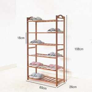 Mehrschichtiges Holzschuhregal, Stapelbare Schuhe Regal Aufbewahrungsorganisator, 2-6 Schicht, 6-20 Schuhe (größe : 108x26x60cm(43x10x24inch))