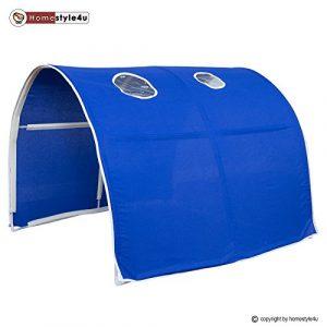 Homestyle4u 1441, Kinder Tunnel Für Hochbett, Baumwolle, 90 cm Breit, Blau
