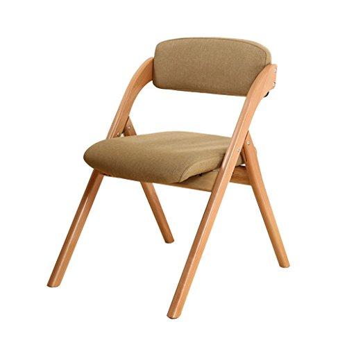 Chi Cheng Fang Electronic business Klappstühle Sessel Stühle & Strandkörbe Klappstuhl Esszimmer Stuhl Stuhl Computer Stuhl Buche Bürostuhl (Color : Beige)
