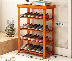 Schuhständer einfacher Schuhschrank Haushalt Staubdichte Schuhstange Mehrschichtige Massivholz Multifunktionsmontage Schlafsaal Schuhgestell ( größe : 60 )