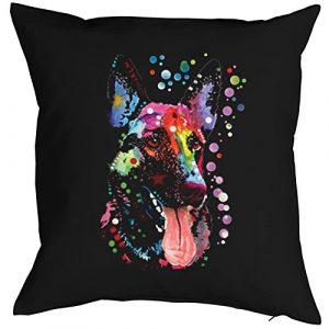 Hunde-Kissen-Bezug(ohne Füllung)/Sofa-Kissen-Bezug mit Neon-Druck: German Shepherd – für Hundefreunde