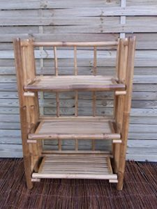 Bambusregal Bücherregal Bambusmöbel Badregal Schuhregal Wandregal Regal Bambus 90 x 60 x 30 cm