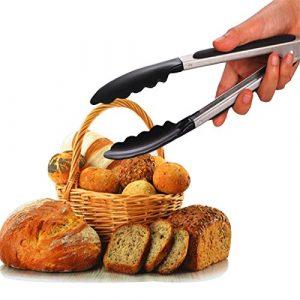Lanker Edelstahl Lebensmittel Zange,Küchenzange Multitool Essenzzangen/Kuchen/Sandwich/Brot/Zucker/Steak/Grill/Buffet/Backen Zange-Küche Kochen Servieren Clip Tools KT42