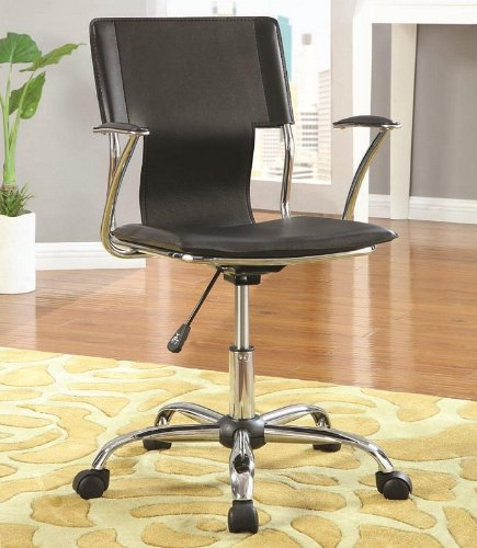 Coaster Home Furnishings Bürostuhl, verstellbar, Chrom/Schwarz