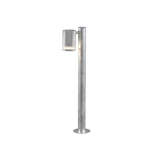 Gnosjö Konstsmide Modena Wegeleuchte Außenleuchte Stahl GU10, galvanisiert grau 11.5 x 19 x 70 cm