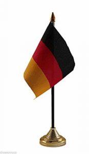 Deutschland Polyester Tisch Schreibtisch Flagge 15,2x 10,2cm Gold Boden