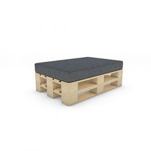 MSS® Palettenkissen Sitzkissen Palettensofa Palettenmöbel Kissen Palette Sofa Couch in Anthrazit