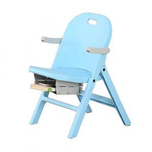 Dall Stühle Kinder Schreibtischstuhl Multi-Funktion Kunststoff Faltbar Tragbar Kinder Leicht (Farbe : Blau)