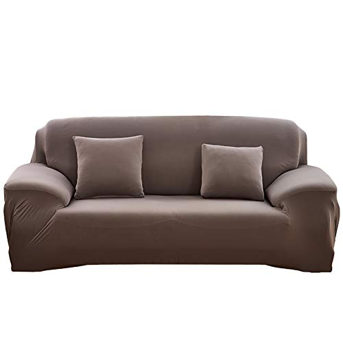 NAttnJf Langlebig Elastisch Volltonfarbe elastische Sofa Wrap Full Cover Rutschfeste Couch Case Protector Decor Grau Doppelsitz