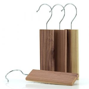 HANGERWORLD 12 Zedernholz Blöcke zum Aufhängen 13cm Langzeit natürlicher Mottenschutz gegen Motten