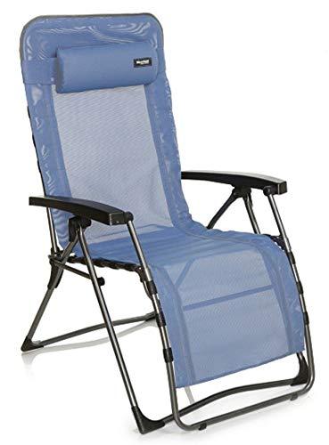 Westfield XXL Luxus Camping Relaxsessel 507440BE, bis 140 kg belastbar, mit Kopfpolster, hellblau