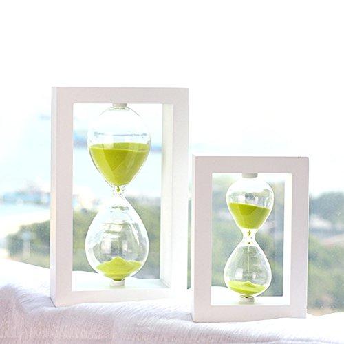 Zhi Jin Rahmen Holz 30Minuten Sanduhr Sanduhr Sand Timer Uhr Schreibtisch Geschenk Küche Dekorative Green Sand