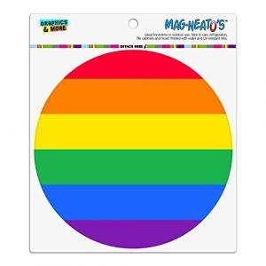 Rainbow Pride Gay Lesbian modernes Automotive Car Kühlschrank Locker Vinyl Kreis Magnet