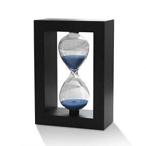 Zhi Jin Rahmen Holz 30Minuten Sanduhr Sanduhr Sand Timer Uhr Schreibtisch Geschenk Küche Dekorative Blue Sand