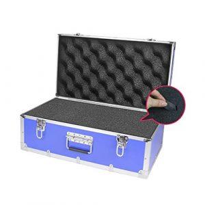 Aktenaufbewahrungsbox, stoßfeste, wasserdichte Werkzeugbox (Aluminiumrahmen) 62 * 35 * 25CM (Farbe : A, größe : 2)