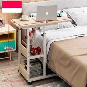 Zhuozi FUFU Tische Höhenverstellbarer Betttisch mit Mehreren Funktionen, Sofatisch, Couchtisch, Laptop-Wagen 4 Farben Drop-Blatt-Tabelle (Farbe : D)