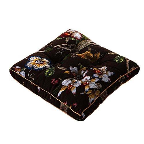 Schöne Bürostuhl -Auflagen weichen Kissen (45 x 45cm, Kaffee Blumen Stil)