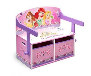 Princess Sitzbank & Schreibtisch mit Stauraum (Rosa)
