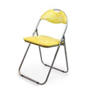 xy Klappstühle Falten, Schreibtisch Stuhl Outdoor Indoor Rückenlehne Portable Klappstuhl (Farbe : Gelb)