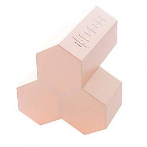 JoyFan Koreanischer Stiftehalter aus Kunststoff, sechseckig, einfache Schreibtisch-Aufbewahrungsbox für Studenten und Bürobedarf, Plastik, Rose, Einheitsgröße