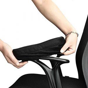 LJXiioo 1 Paar Ergonomische Memory Foam Bürostuhl Armlehnenpolster für Ellenbogen und Unterarme Druckentlastung,4pair
