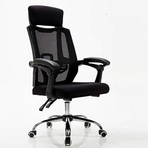 ADHKCF Ergonomischer Mesh-Bürostuhl, der die Kopfstütze verbreitert und den verstellbaren Armlehnenstuhl verstellbare Rückenlehne trägt (Farbe : Schwarz, größe : S)