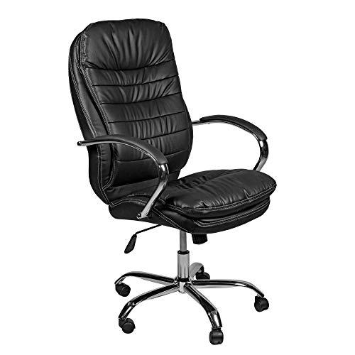 ESTEXO® Bürostuhl Drehstuhl Chefsessel schwarz weiß braun Schreibtisch Stuhl (Schwarz)