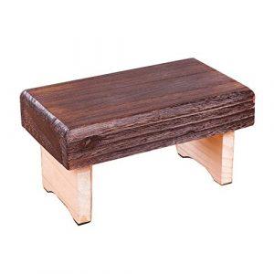 Lovehouse Faltbar Holz Hocker, Mini Portable Faltbar Campingstuhl hocker,Ultraleicht Japaner Fußhocker,Kleinen Schuh Regal tritthocker-A
