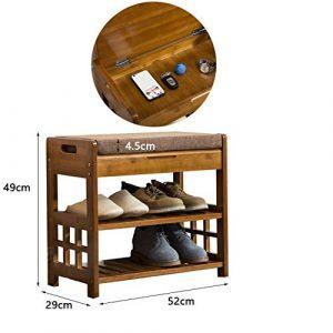 LZQ-XJ Hölzerner Schuhschrank, tragendes Schließfach-Eingangsschlafzimmer, einfach, umweltfreundlich, ungiftig, sicher, sicher, Schuhhocker (Farbe : C, größe : 60x49x32.5cm)