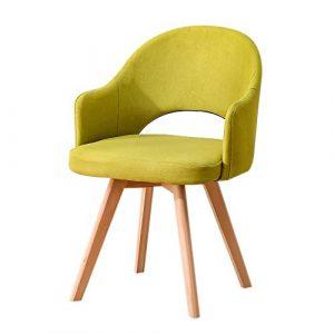 Stuhl aus massivem Holz mit Rückenlehne Stuhl Nordic modern einfach faul nach Hause Hocker Restaurant Esszimmer Stuhl Lernen einfachen Schreibtischstuhl (Farbe : Matcha)
