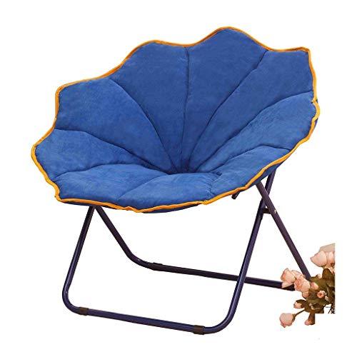 Yalztc-zyq16 Faule Couch, stilvoller minimalistischer, einzelner Stuhl Hauptschlafzimmer Balkonschneckenstuhl Klapprückenlehne Klubsessel Sessel Siesta Sofa Barhocker (Farbe : Blau)