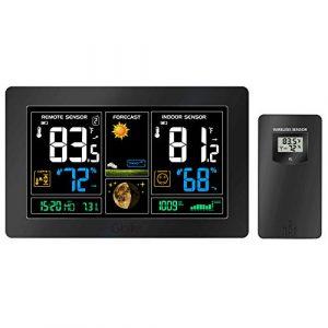 sainlogic gigrei Wetterstation, Thermometer Innen außen, Genaue Lesung Temperatur mit Sensor für den Schreibtisch | Ihr Zuhause | Das Büro, Blau