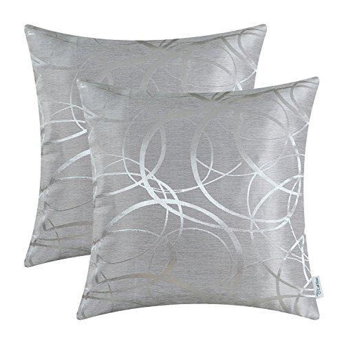 Kissenbezüge, Kissenhülle CaliTime 2 Stück Kissen Werfen Kissen Abdeckungen Fälle Schutz Muscheln zum Couch Sofa Schlafzimmer Zuhause Weihnachten Dekor (45cm x 45cm)