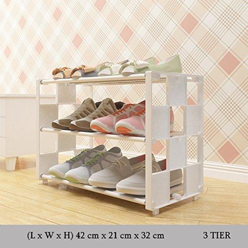 NSGP Leichte kompakte Schuhregal Kids Einstellbare Lagerung Regal Veranstalter Halter 3 bis 9 Tier Tür Halle Balkon Eingang Ecke (Farbe : 3 Tier, größe : Length 60cm)