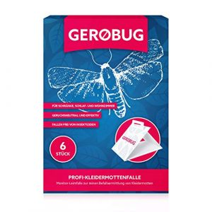 Gerobug Kleidermotten-Falle 6 Stück + Bonus E-Book