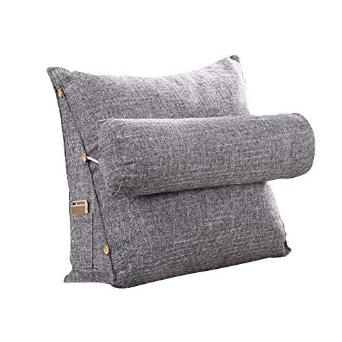 Verstellbares Dreieck Kissen zurück Keil, Kissen aus Baumwolle und Leinen, einfarbig einfache Office Taille Kissen, Schlafzimmer Kissen, Kopfstütze Rückenlehne Kissen für Sofa, schlecht, Bürostuhl