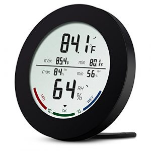 AMIR Hygrometer Thermometer, Digital Innen Thermo-Hygrometer, Hygrometer luftfeuchtigkeit, Multifunktionaler Raumthermometer mit MIN/MAX Records für Schreibtisch / Wand / das Haus / das Büro