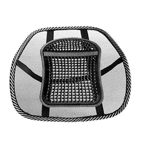 IMHERE W U Breathable Ineinander greifen Gridding Relax Auto-Sitzkissen-Träger-Unterstützung Pad Bürostuhl Rückseiten-Rücken Taille Pflege Massage-Matte