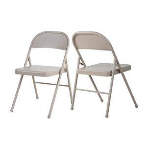 QIDI Packung von 2/4/6 Klappstuhl tragbar Schreibtischstühle Camping Zuhause Büro Speise- Innen- Draussen Stühle (Farbe : 2 Chairs)