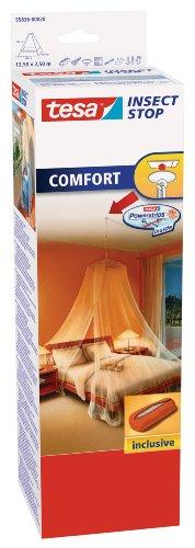 tesa Insect Stop COMFORT Moskitonetz / Insektenschutz für Doppelbetten / Im praktischen Beutel ideal für Reisen / 125 cm x 250 cm